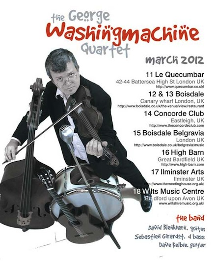 k3et GW2012a UK tour dates (march) for the George Washingmachine Quartet!
