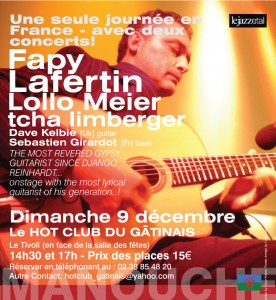 LM FL montargis 276x300 Second concert added in Montargis with Fapy Lafertin